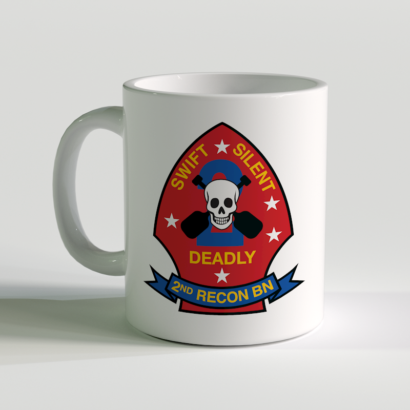 2nd Recon Bn, 2nd Reconnaissance Battalion, USMC Coffee Mug, swift silent deadly