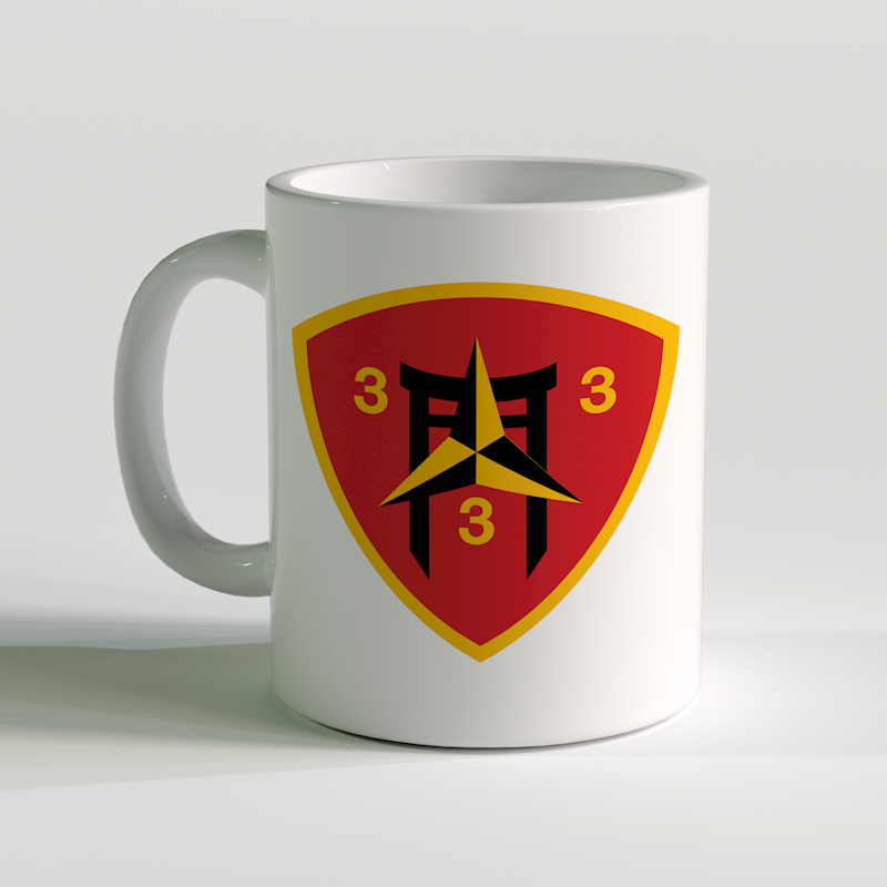 3/3 unit coffee mug, 3rd battalion 3rd Marines, USMC Coffee Mug