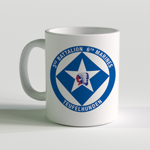 3/6 unit coffee mug, 3rd battalion 6th marines, usmc coffee mug, teufelhunden