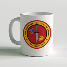 3/7 unit coffee mug, 3rd battalion 7th marines, usmc coffee mug, the cutting edge