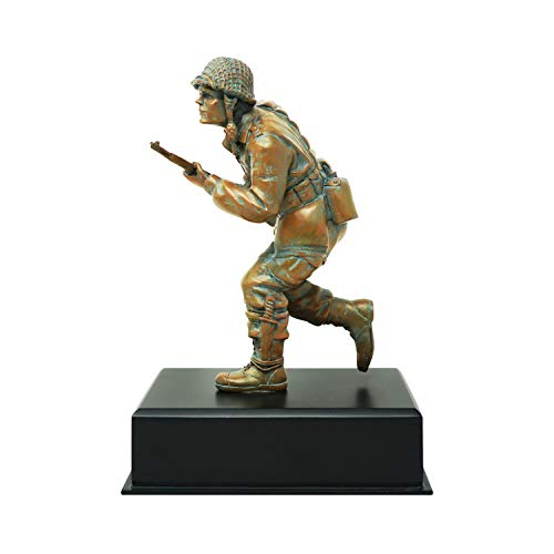 World War II Band of Brothers Army Statue – Hand Crafted – Resin – Specialty Army Retirement Gift for Men, Women