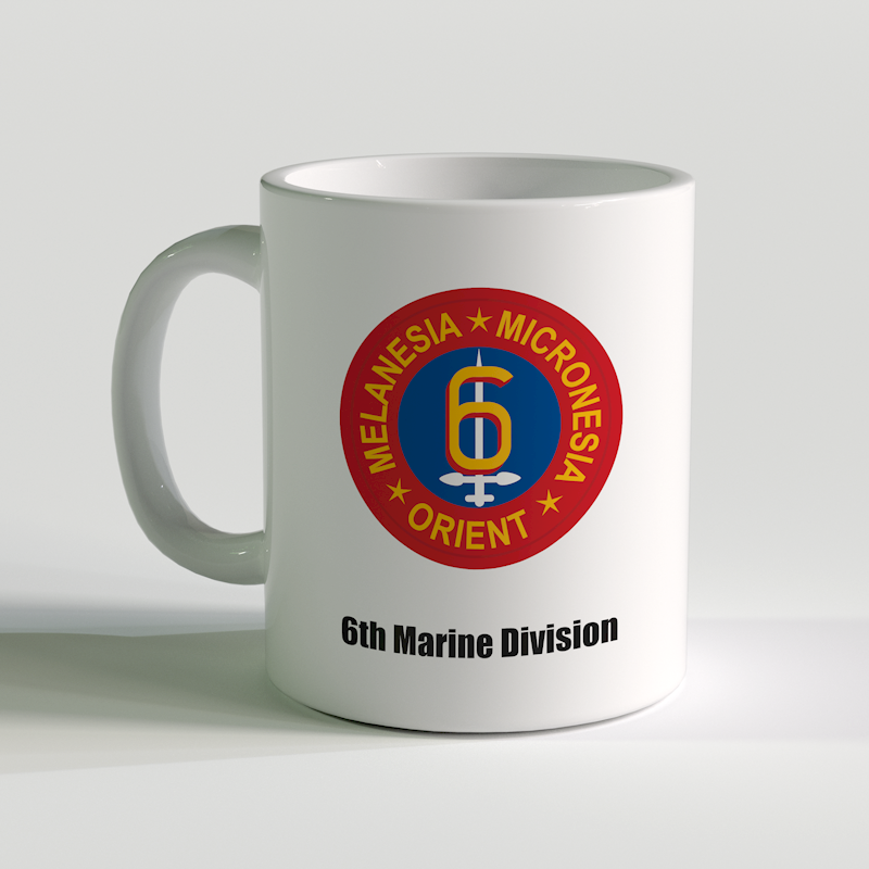 6th Marine Division Coffee Mug, USMC Coffee Mug, 6th Marine Division