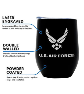 Air Force Wine Tumbler