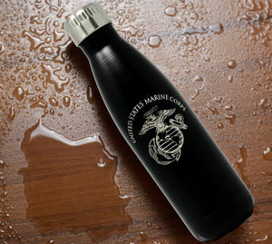 Metal USMC Water Bottle