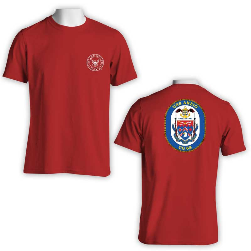 USS Anzio T-Shirt, CG 68, CG 68 T-Shirt, US Navy T-Shirt, US Navy Apparel