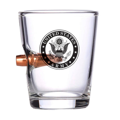 ARMY Bullet Shot Glass – Real .308 Solid Copper Bullet