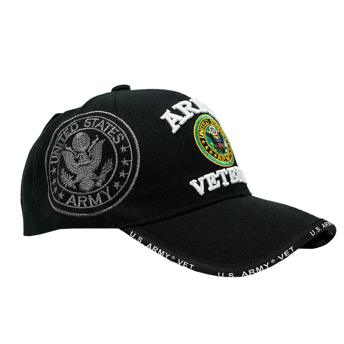 United States Army Veteran Embroidered Baseball Cap