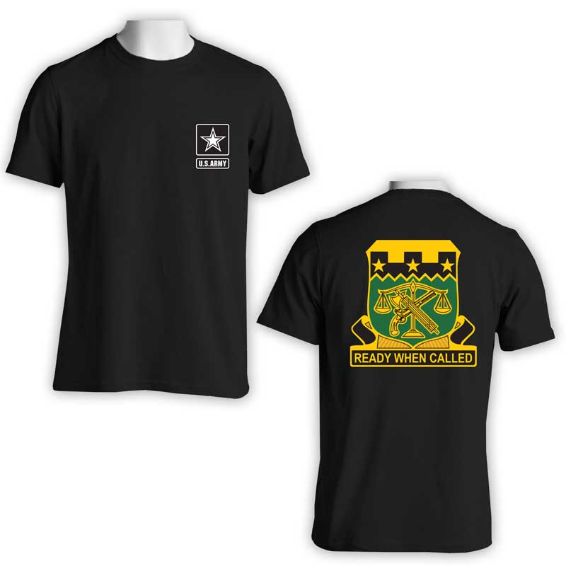 105th Military Police Bn, US Army Military Police, US Army T-Shirt, US Army Apparel, Ready When Called
