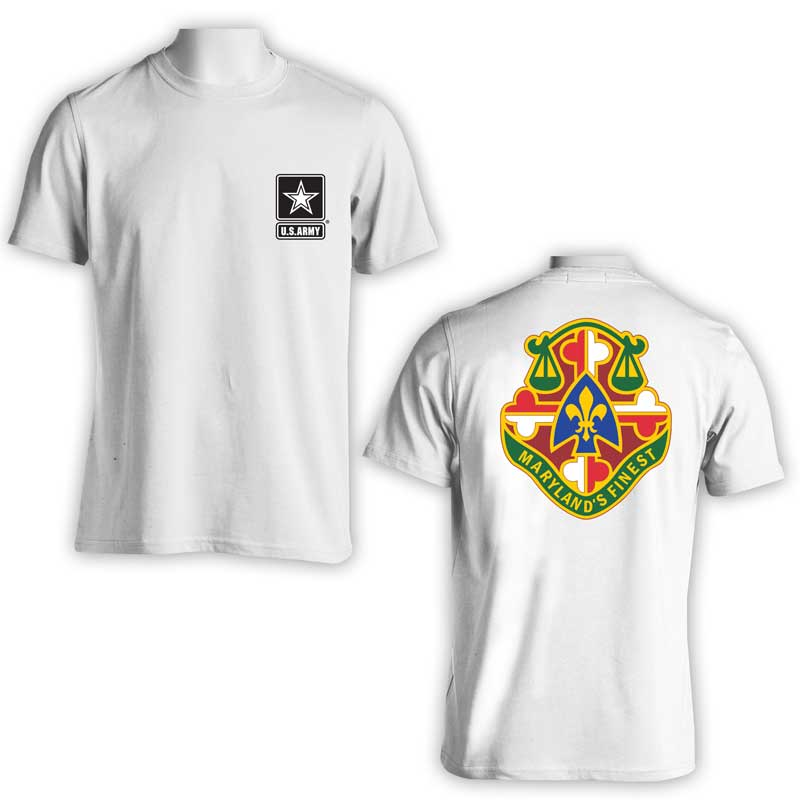 115th Military Police Bn, US Army Military Police, US Army T-Shirt, US Army Apparel, Maryland's Finest