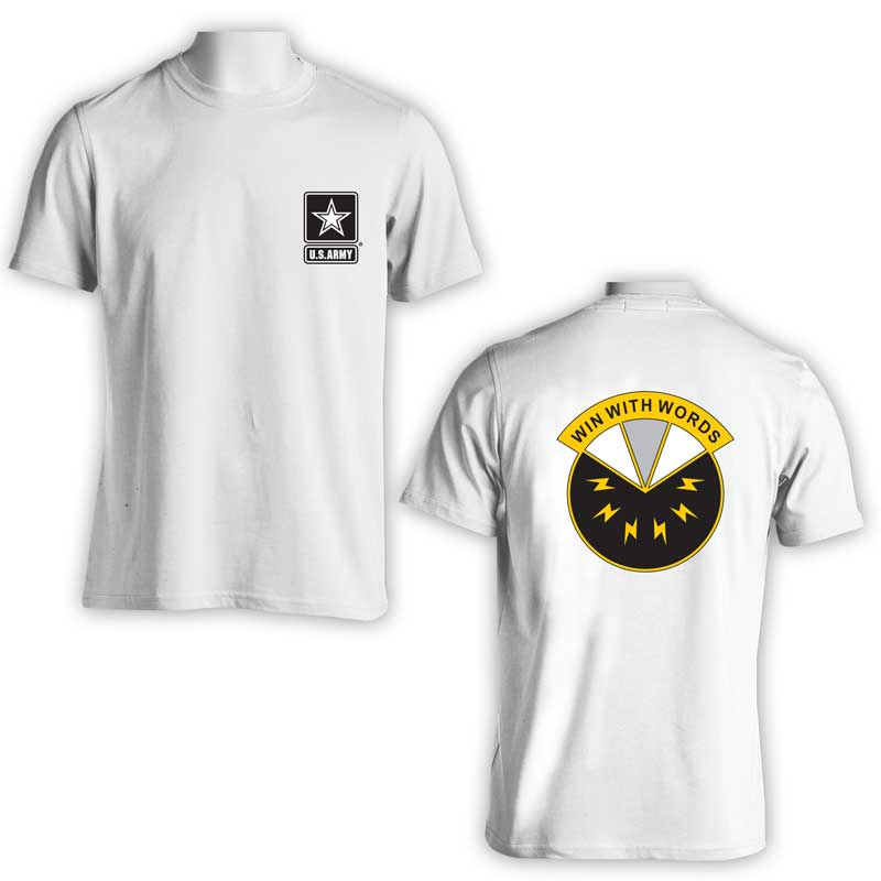 17th Psychological Operations Bn, US Army Psych Ops, US Army T-Shirt, US Army Apparel, Win with words