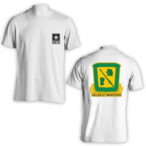 18th Calvary Regiment, US Army T-Shirt, Velox Et Mortifer