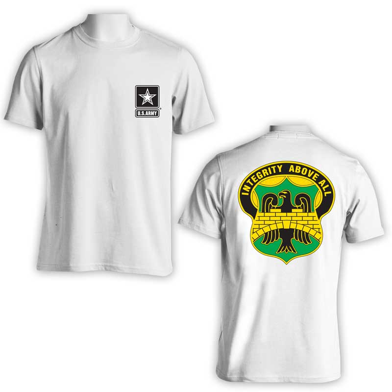 22nd Military Police Bn, US Army Military Police, US Army Apparel, US Army T-Shirt, Integrity above all