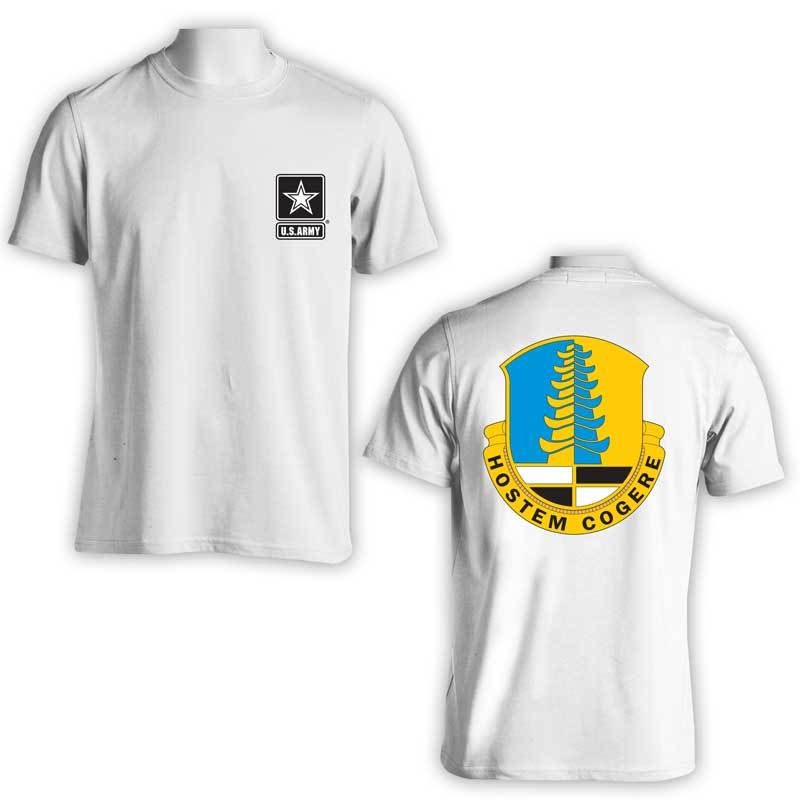 319th Military Intelligence Bn t-shirt, US Army Military Intelligence, US Army Apparel, US Army T-Shirt, Hostem Cogere