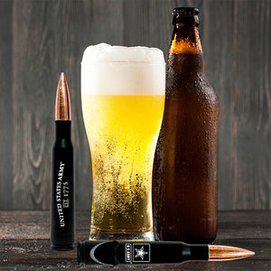 50.Cal Army Bullet Bottle Opener – Previously Fired Army BMG 50 Caliber Real Bullet Casing