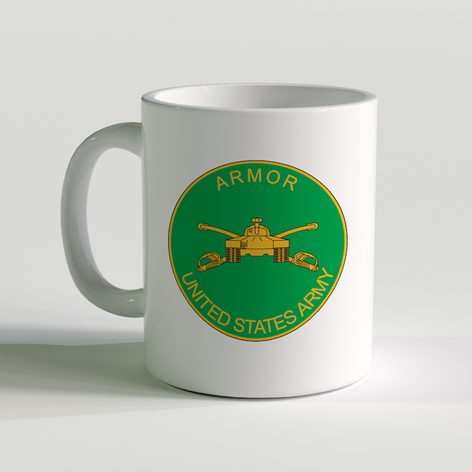 US Army Armor Branch Coffee Mug, US Army Coffee Mug