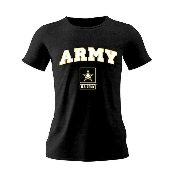 Black Army Ladie's Female T-Shirt