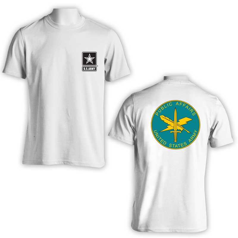 US Army Public Affairs t-shirt, US Army T-Shirt, US Army Apparel