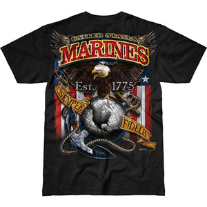 USMC 'Fighting Eagle' Battlespace Men's T-Shirt Back