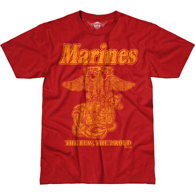 USMC 'Retro' Battlespace T-Shirt Military Red
