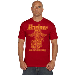 Marine 'Retro' Battlespace Men's T-Shirt Military Red