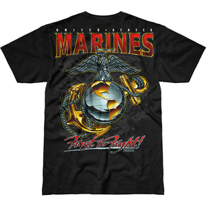 USMC 'Eagle, Globe & Anchor' Battlespace T-Shirt Black Back