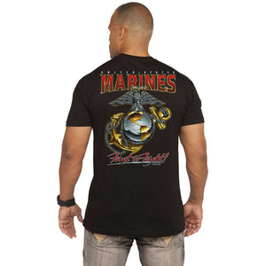 Marine 'Eagle, Globe & Anchor' Battlespace Men's T-Shirt Black
