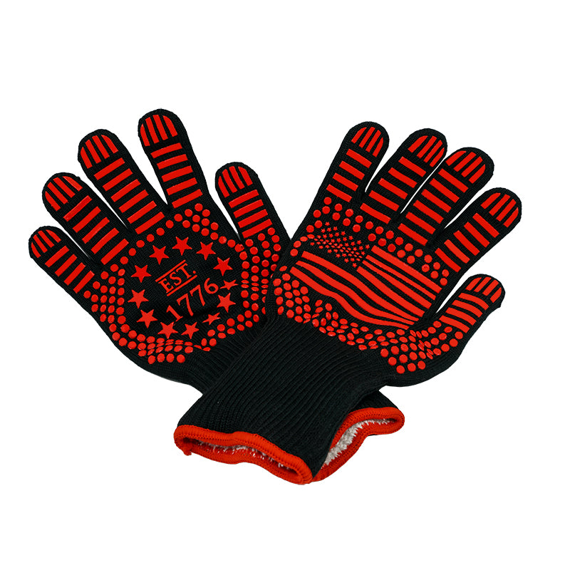 US Flag Heat Resistant BBQ Oven Gloves