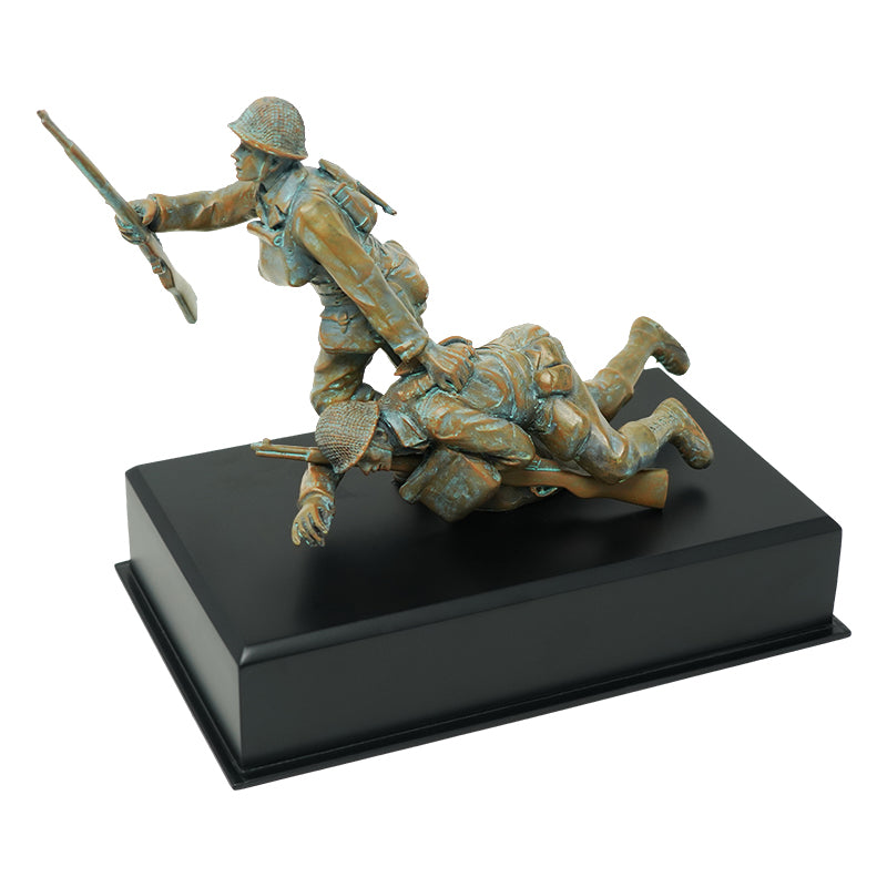 D-Day Statue Omaha Beach Retirement Gift