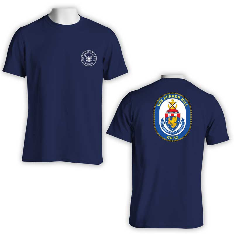 USS Bunker Hill T-Shirt, CG 52, CG 52 T-Shirt, US Navy T-Shirt, US Navy Apparel
