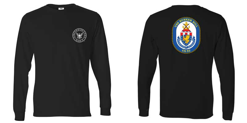 USS Bunker Hill Long Sleeve T-Shirt, CG-52 t-shirt, CG-52