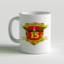 USMC CLR Unit Coffee Mug, Combat Logistics Regiment, Semper Sensus Necessitas