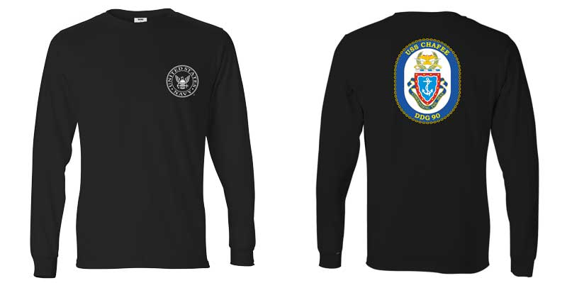USS Chafee Long Sleeve T-Shirt, DDG-90
