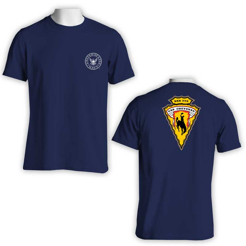 USS Cheyenne T-Shirt, Submarine, SSN 773, SSN 773 T-Shirt, US Navy Apparel, US Navy T-Shirt
