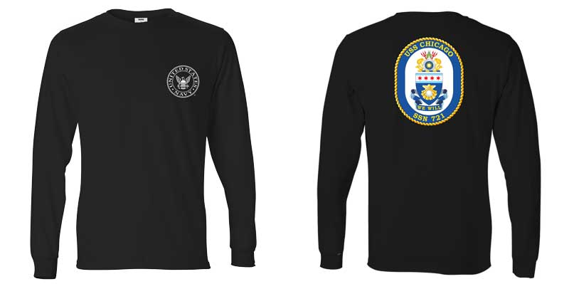 USS Chicago Long Sleeve T-Shirt, SSN-721