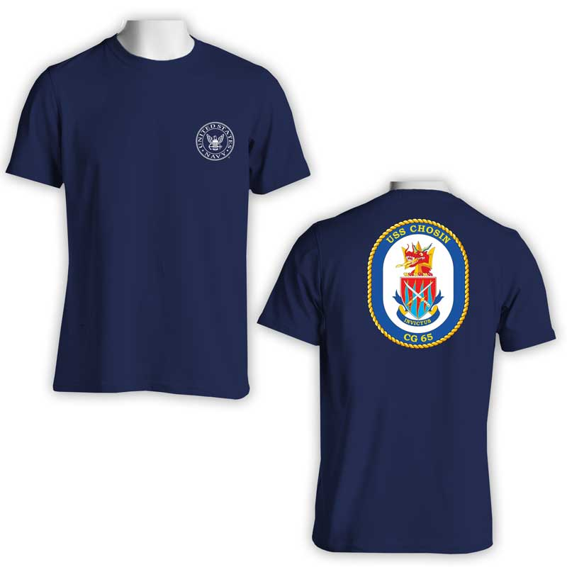 USS Chosin T-Shirt, CG 65, CG 65 T-Shirt, US Navy T-Shirt, US Navy Apparel