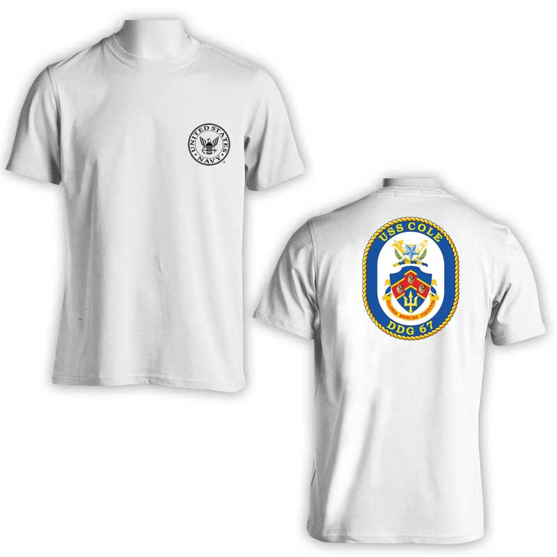 USS Cole T-Shirt, DDG 67, DDG 67 T-Shirt, US Navy T-shirt, US Navy Apparel
