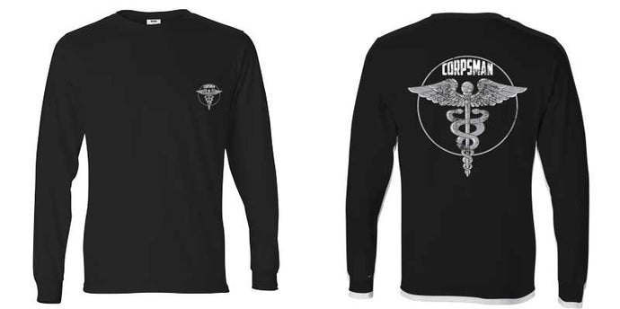 US Navy Corpsman, Navy Corpsman Long Sleeve T-Shirt, USN Corpsman, Corpsman Apparel