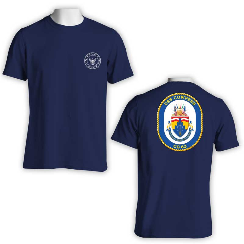 USS Cowpens T-Shirt, US Navy T-Shirt, US Navy Apparel, CG 63, CG 63 T-Shirt