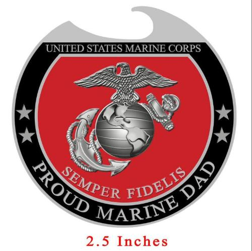USMC Proud Dad Bottle Opener Magnet