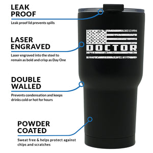 Doctor First Responder Tumbler, First responder tumbler, Doctor Tumbler