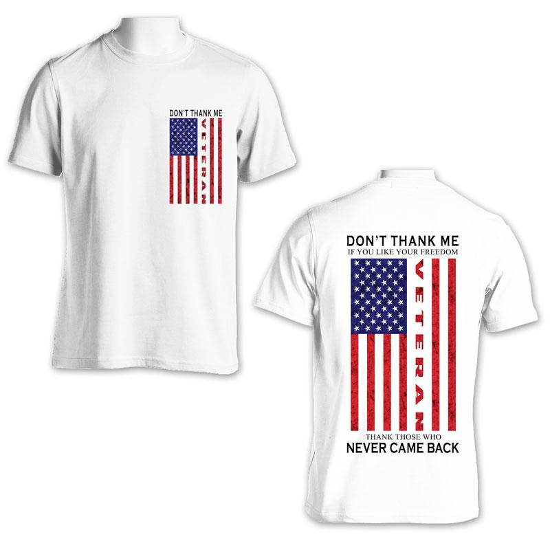 White Thank a veteran t-shirt