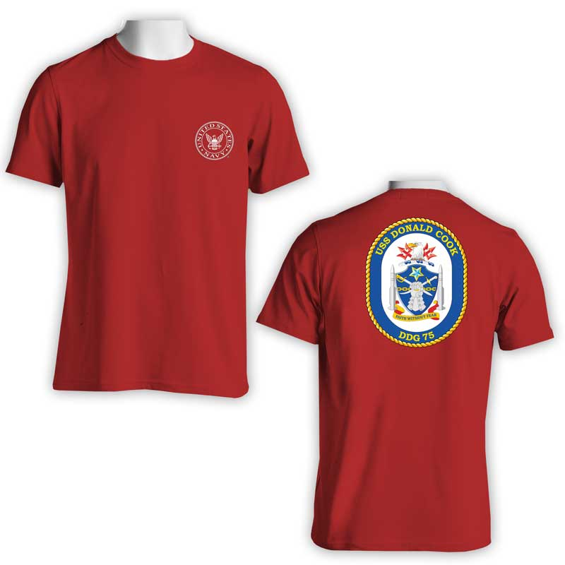 USS Donald Cook T-Shirt, DDG 75 T-Shirt, DDG 75, US Navy T-Shirt, US Navy Apparel