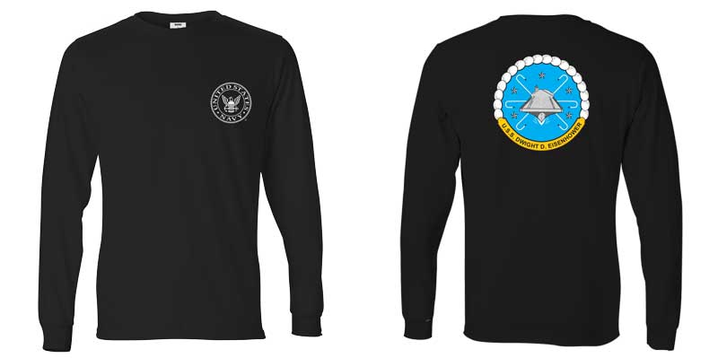 USS Dwight D. Eisenhower Long Sleeve T-Shirt, CVN-69 T-shirt, CVN 69