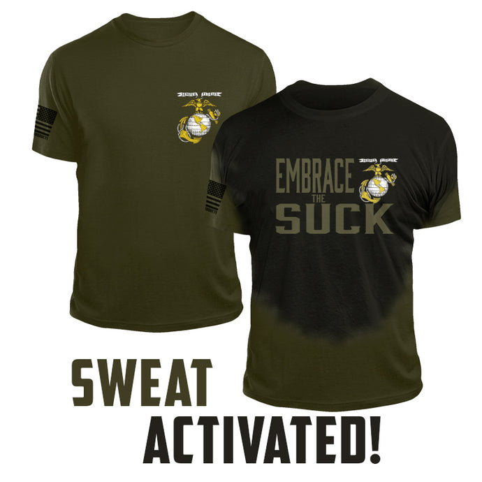 USMC Embrace the Suck Sweat Activated Marine Corps T Shirt