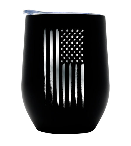 American Flag Vacuum Insulated Wine Tumbler