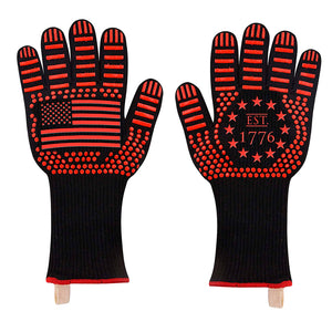 US Flag American BBQ Oven Gloves