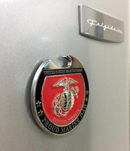 Proud Family USMC Magnet Bottle Opener