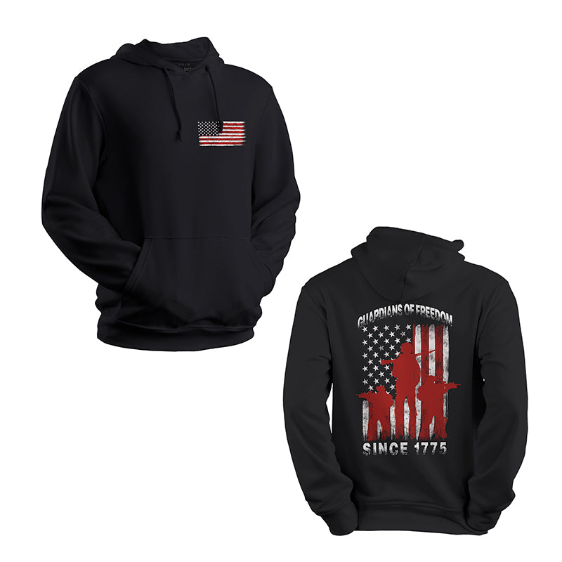 guardians of freedom since 1775 marines USMC Hoodie black