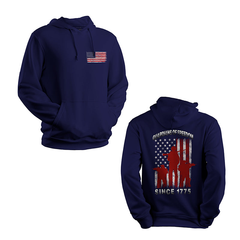 guardians of freedom since 1775 marines USMC Hoodie navy,
