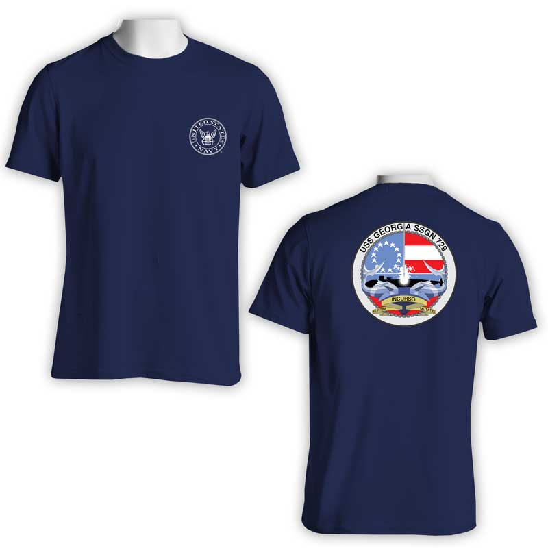 USS Georgia T-Shirt, Submarine, SSGN 729, SSGN 729 T-Shirt, US Navy T-Shirt, US Navy Apparel